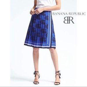 NWT BANANA REPUBLIC | Paisley Pleated Midi Skirt